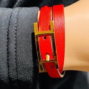 💎💎💎Authentic HAPI 3 Reversible Leather Bracelet